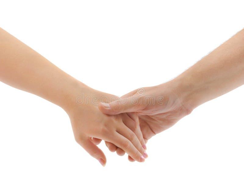 Mãos do homem e da mulher imagens de stock royalty free