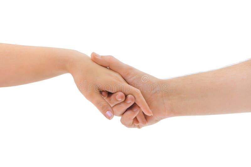 Mãos do homem e da mulher imagem de stock royalty free