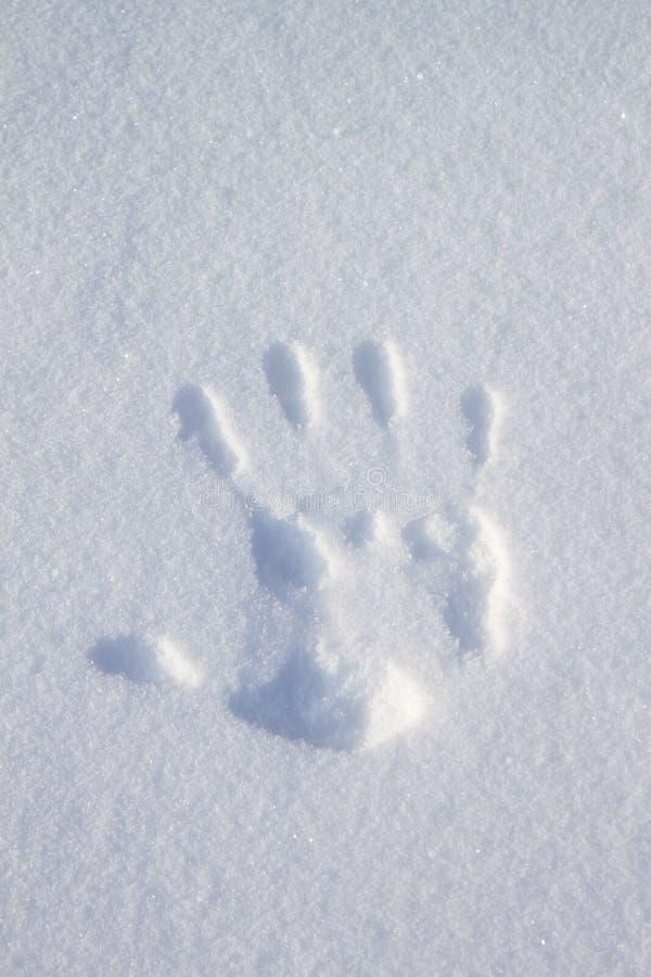 Mãos do Imprint fotografia de stock