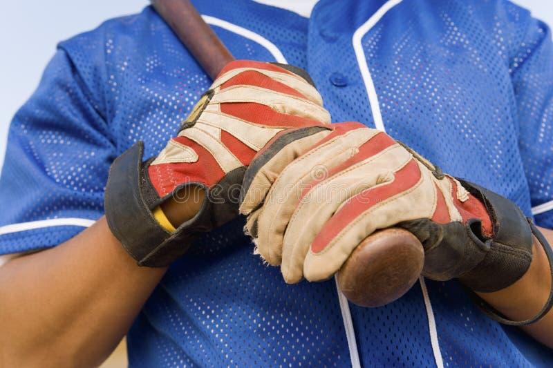Mãos do jogador de beisebol fotos de stock
