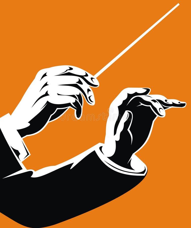 Mãos do líder ilustração royalty free