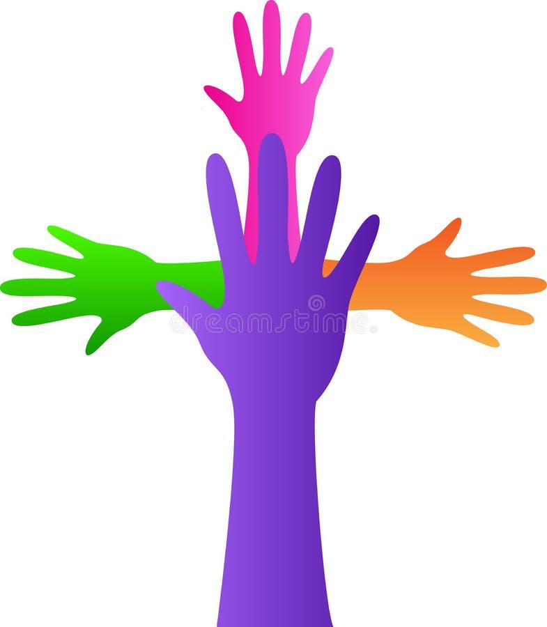Mãos do símbolo da cristandade ilustração royalty free