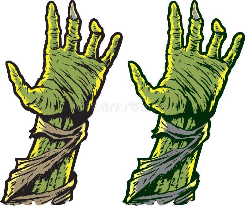 Mãos do zombi ilustração stock