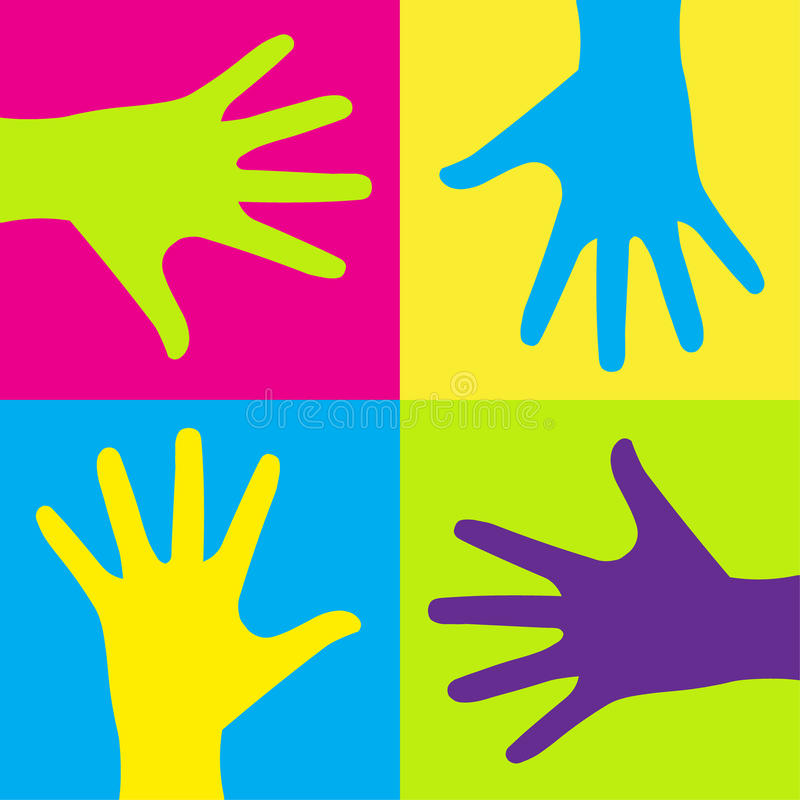 Mãos dos miúdos ilustração stock