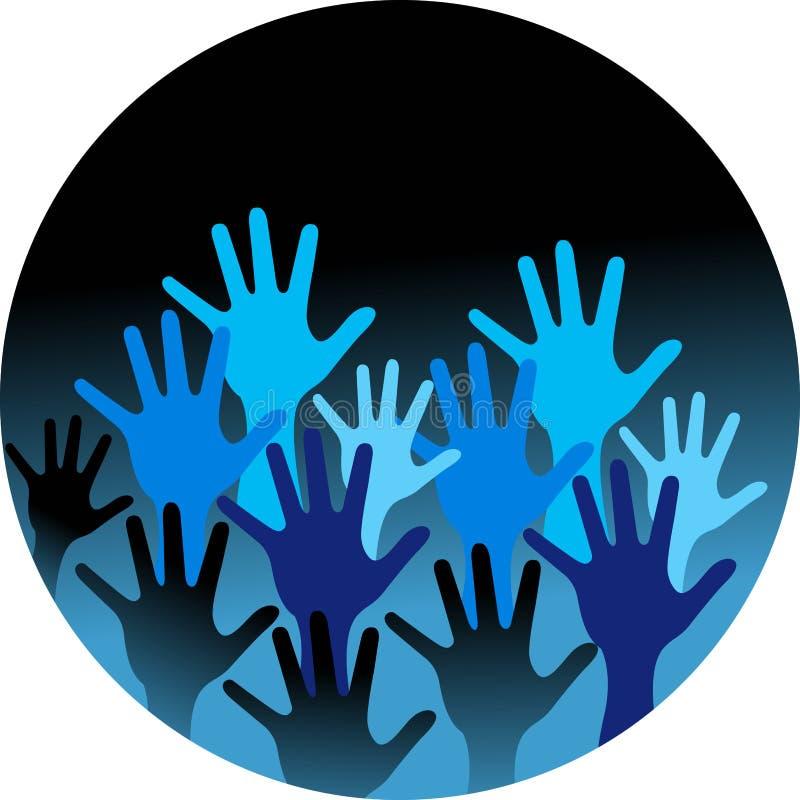 Mãos dos povos ilustração stock