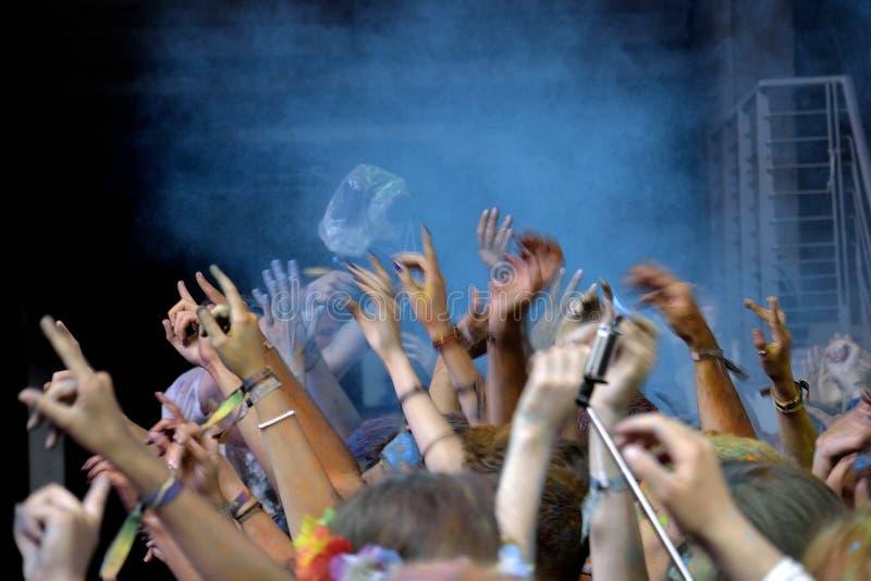 Mãos e braços festivos fotografia de stock royalty free