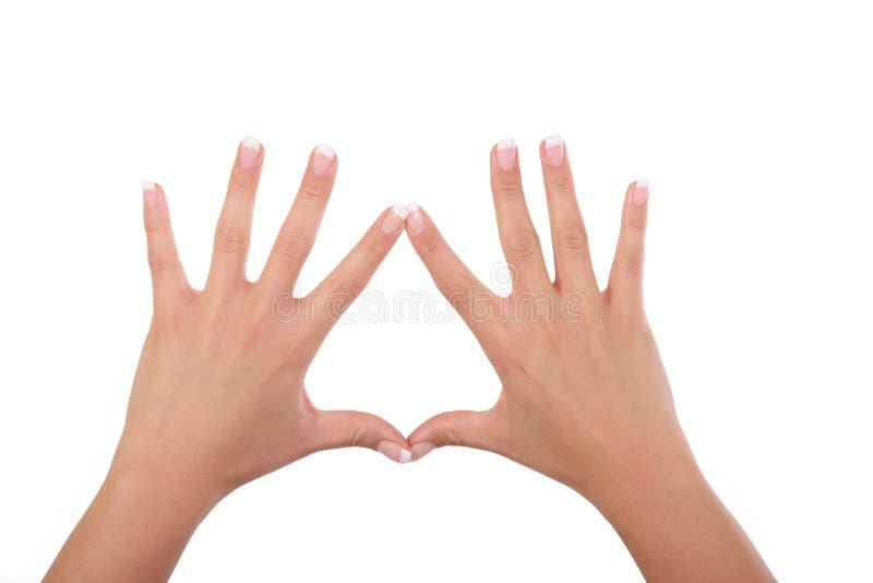 Mãos e dedos da mulher foto de stock