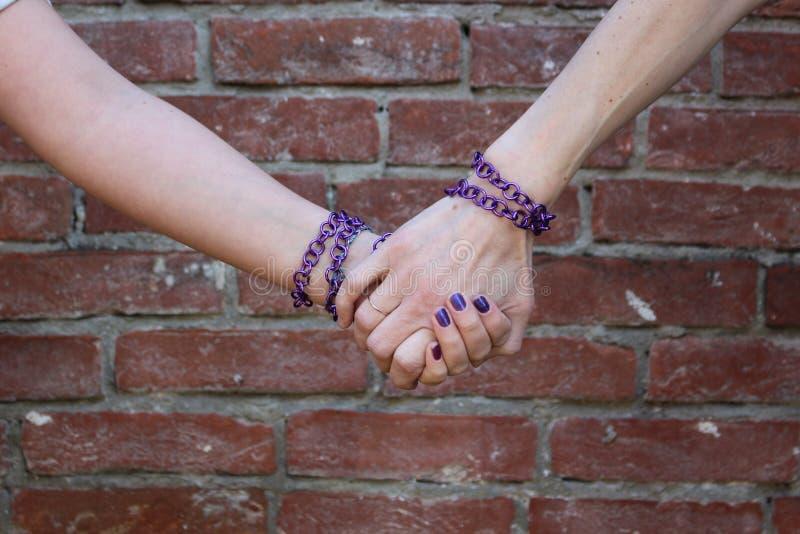 Mãos estreitas foto de stock royalty free