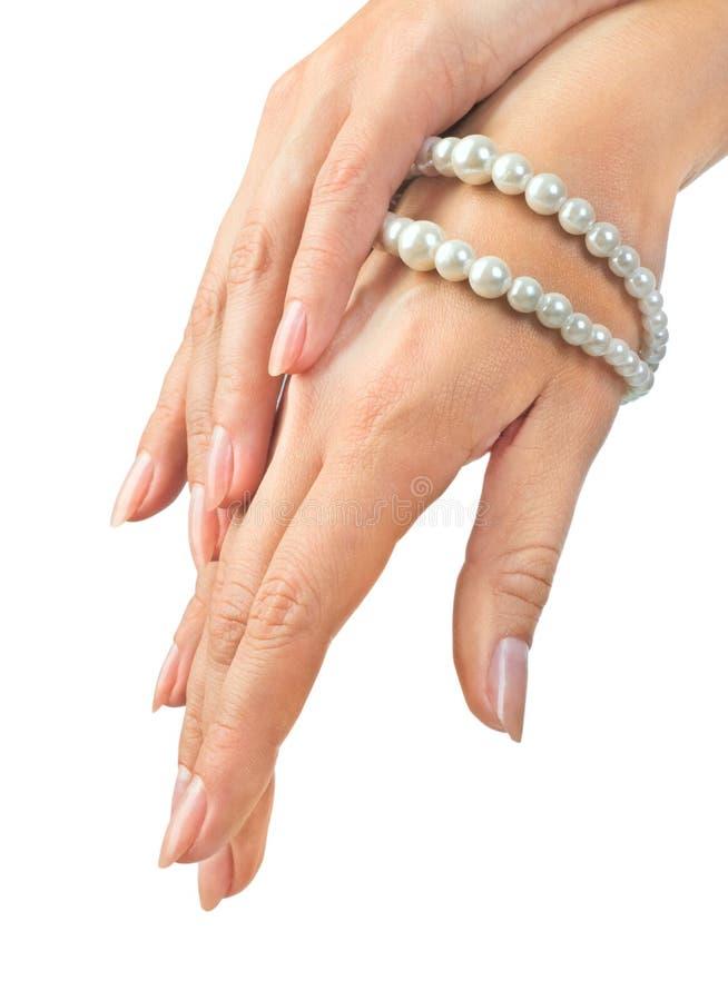 Mãos fêmeas bonitas fotos de stock