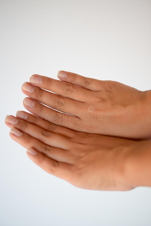 Mãos fêmeas bonitas foto de stock