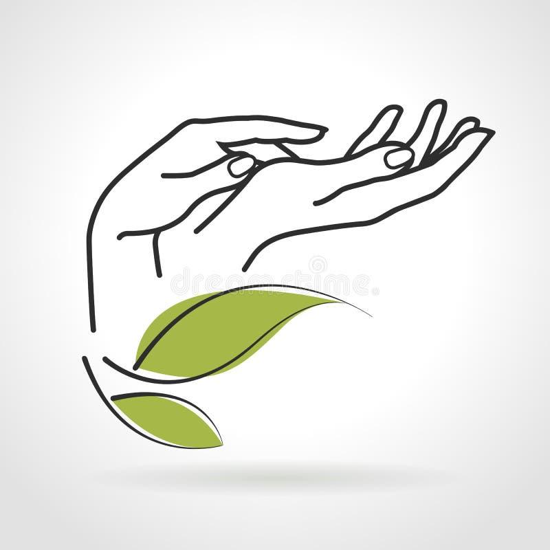 Mãos fêmeas que importam-se com eles ilustração do vetor