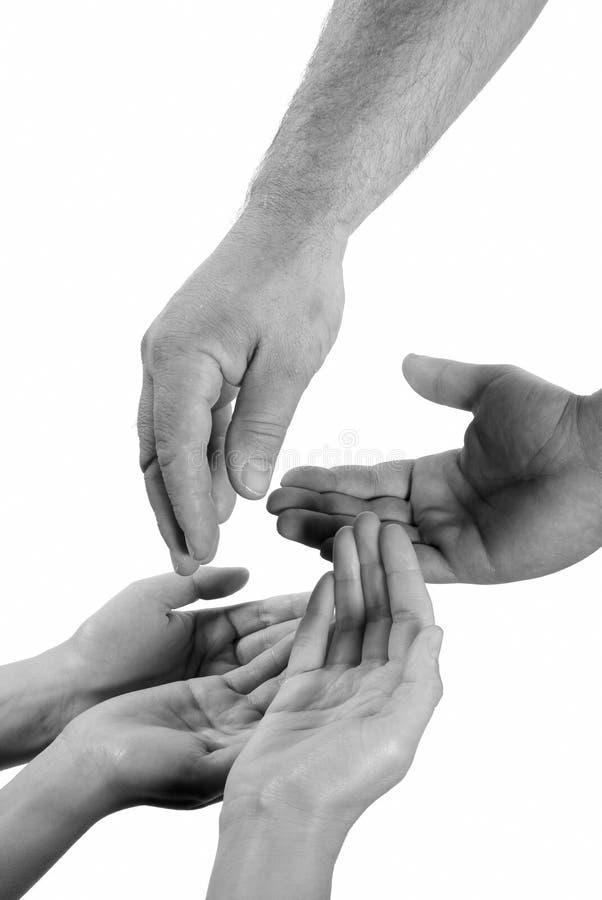 Mãos humanas imagem de stock