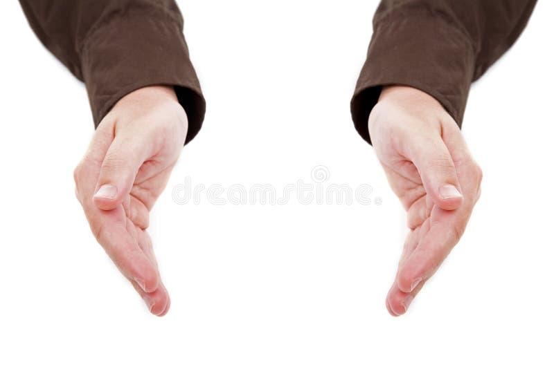 Mãos isoladas no branco fotografia de stock