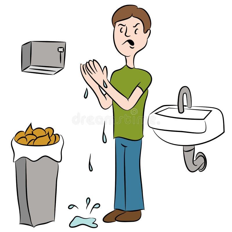 Mãos molhadas ilustração stock