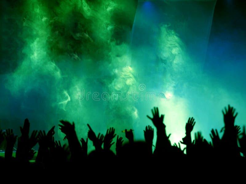 mãos, névoa e luz foto de stock