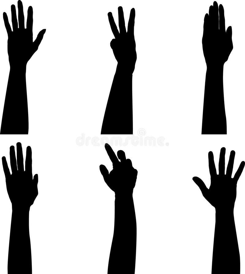 Mãos no ar ilustração royalty free