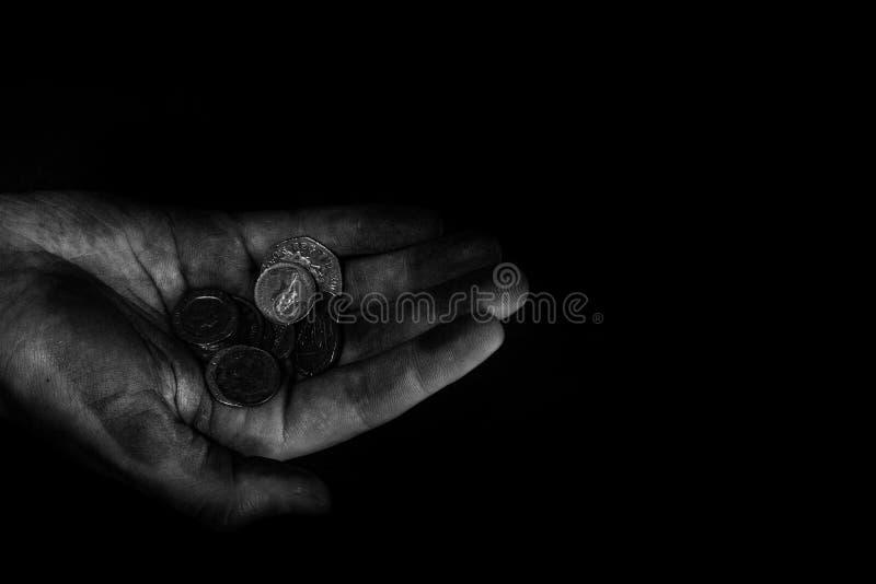 Mãos pobres foto de stock royalty free