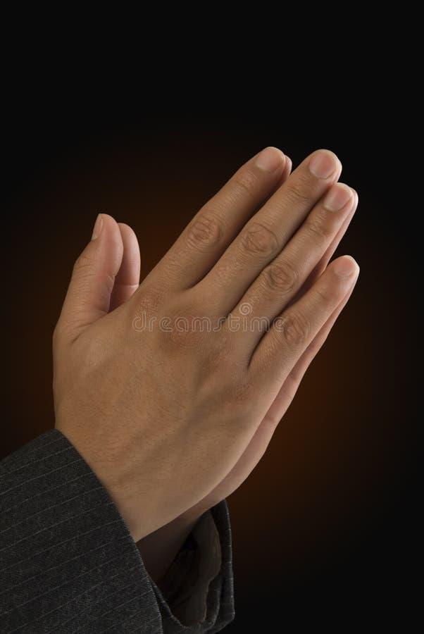 Mãos Praying fotografia de stock