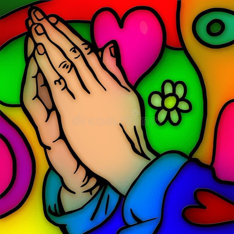 Mãos Praying ilustração royalty free