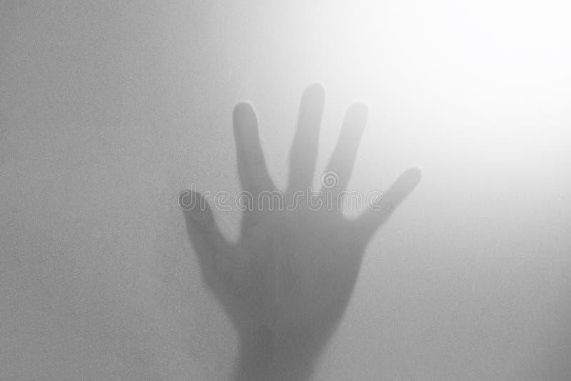 mãos preto e branco abstratas da sombra imagem de stock royalty free