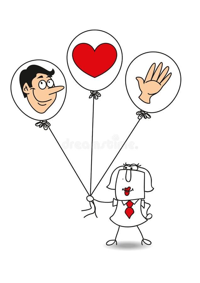 Mãos principais do coração ilustração royalty free