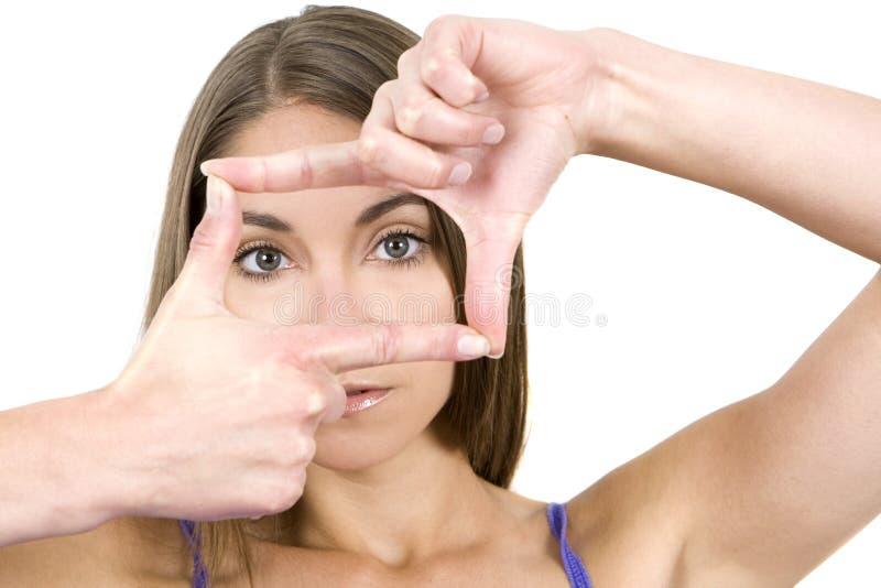Mãos quadro foto de stock