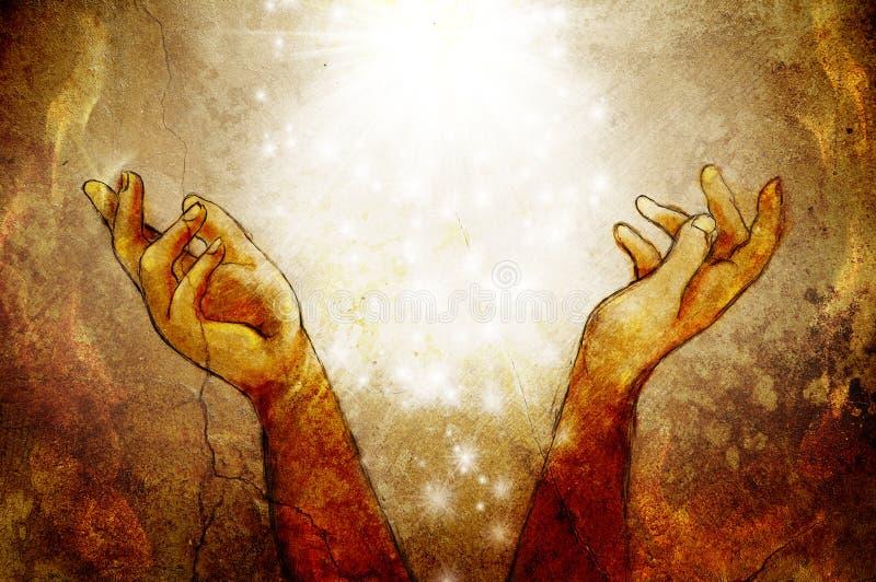 Mãos que alcançam acima ilustração royalty free