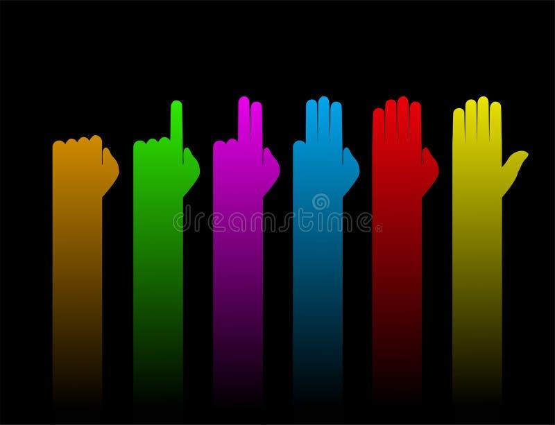 Mãos que contam o símbolo ilustração stock