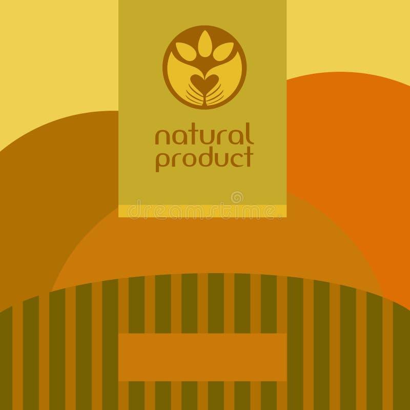 Mãos que guardaram o molde abstrato do logotipo da planta plantado ilustração stock