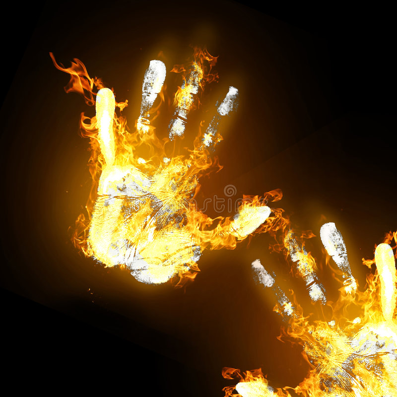 Mãos quentes fotos de stock royalty free
