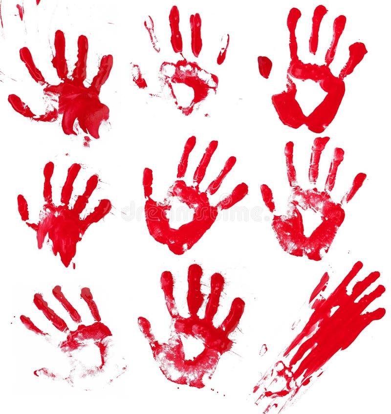 Mãos sangrentas imagens de stock