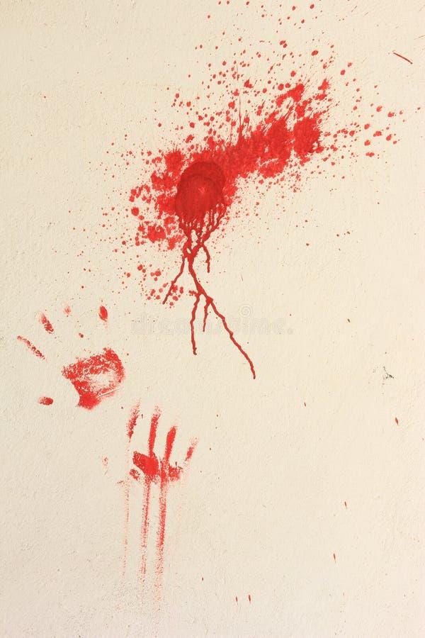 Mãos sangrentas foto de stock