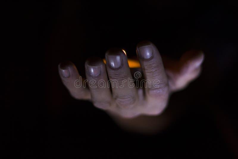 Mãos sobrenaturais fotografia de stock royalty free