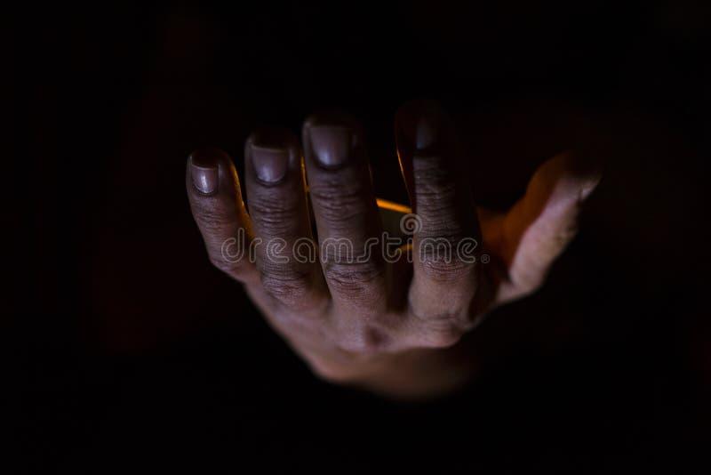 Mãos sobrenaturais imagens de stock