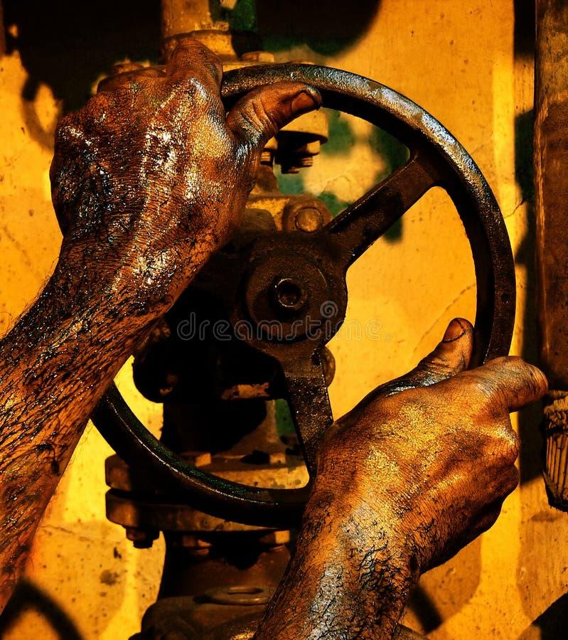 Mãos sujas imagem de stock