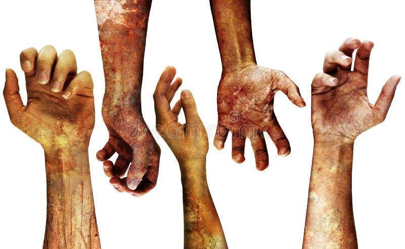 Mãos sujas detalhadas ilustração royalty free