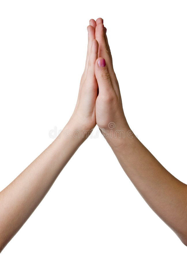 Mãos tocantes foto de stock royalty free