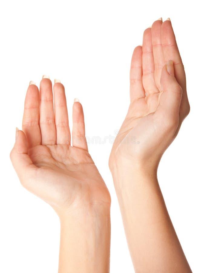 Mãos vazias da mulher fotos de stock royalty free