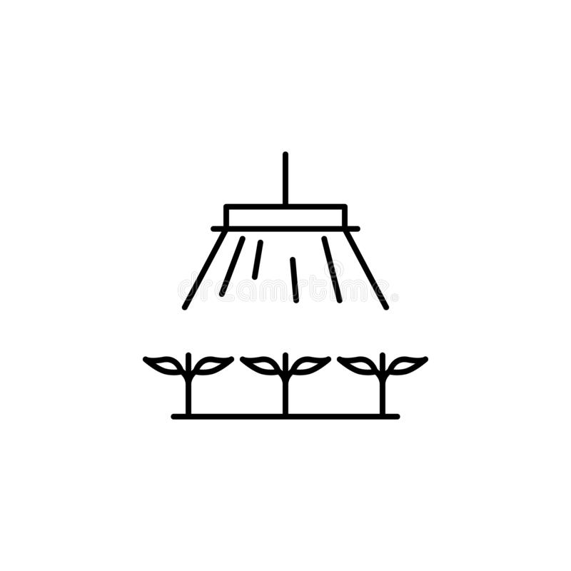 mądrze gospodarstwo rolne, cieplarniana ikona Element mądrze rolna ikona Cienka kreskowa ikona dla strona internetowa projekta i  royalty ilustracja