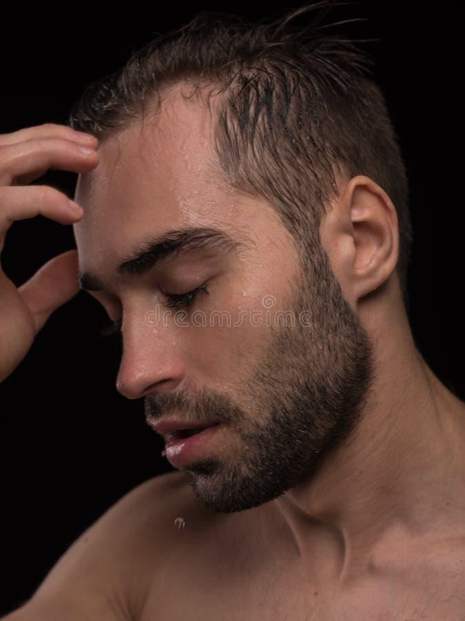 Mężczyzna ciało Portret Przystojny Seksowny Młody facet fotografia royalty free