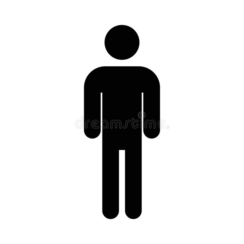 Mężczyzna ikony wektor Prosty płaski symbol Mężczyzna ikona na białym tle ilustracja wektor