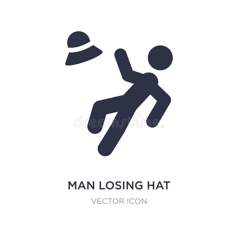mężczyzna przegrywająca kapeluszowa ikona na białym tle Prosta element ilustracja od sporta pojęcia ilustracji