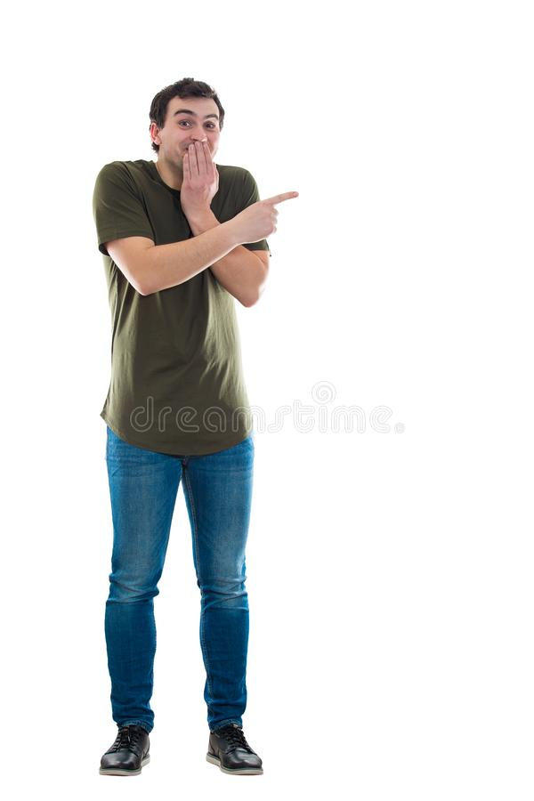 Mężczyzna robi zabawie someone zdjęcie stock