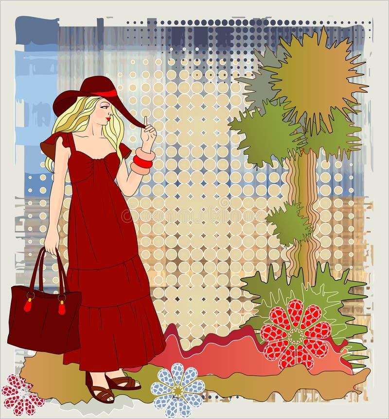Download Mädchen über Gutshofhintergrund Vektor Abbildung - Illustration von wald, outdoor: 12201363
