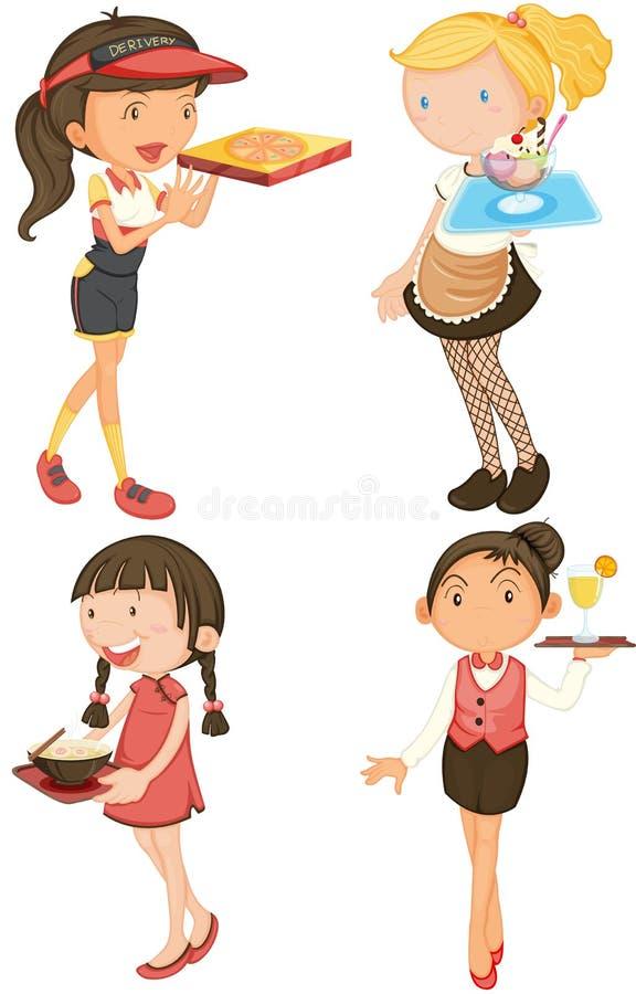 Mädchen lizenzfreie abbildung