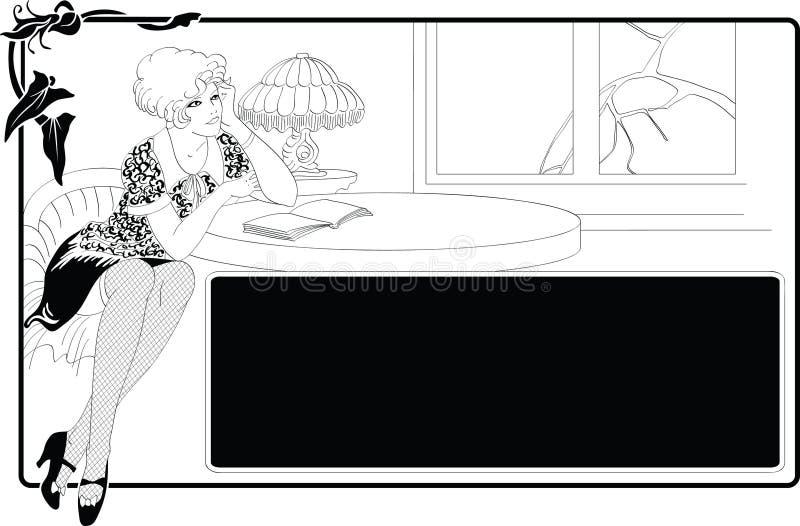 Download Mädchen vektor abbildung. Illustration von kleid, formular - 9098031