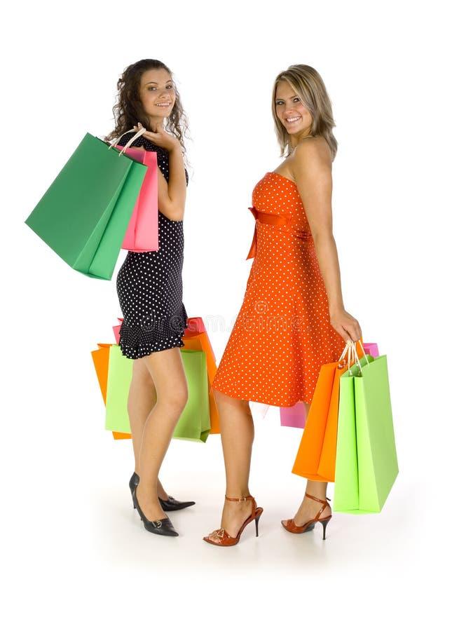 Mädchen Auf Dem Einkaufen Lizenzfreie Stockfotografie