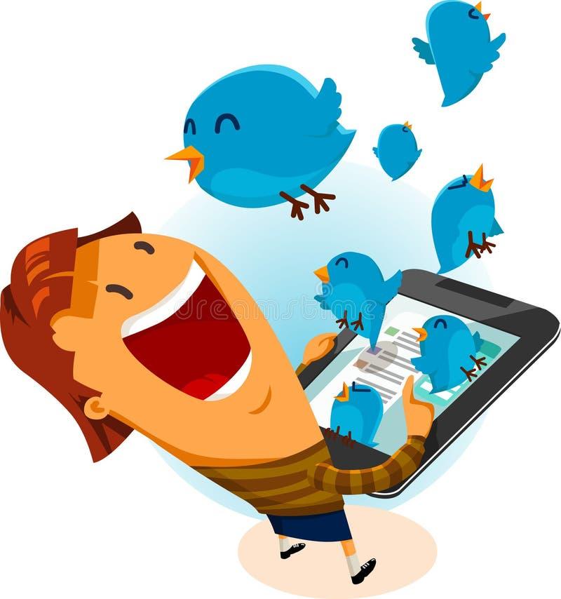 Mädchen auf Twitter-Vogel