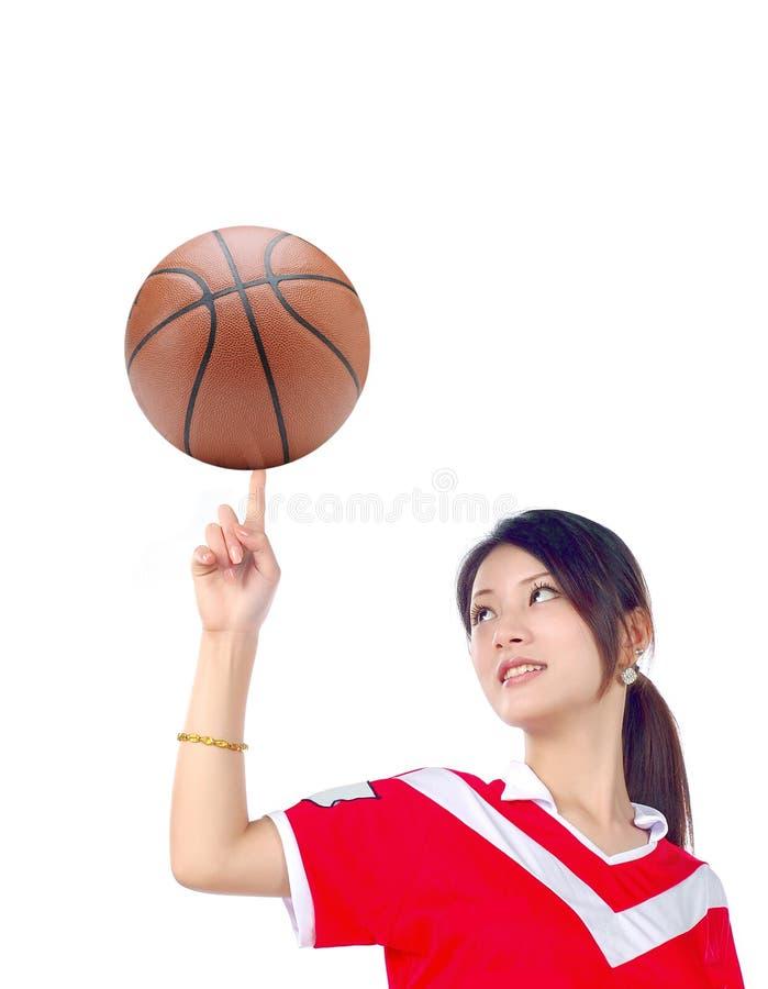 Mädchen-Basketball lizenzfreies stockbild