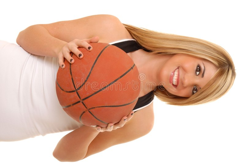 Mädchen-Basketball-Spieler stockfoto